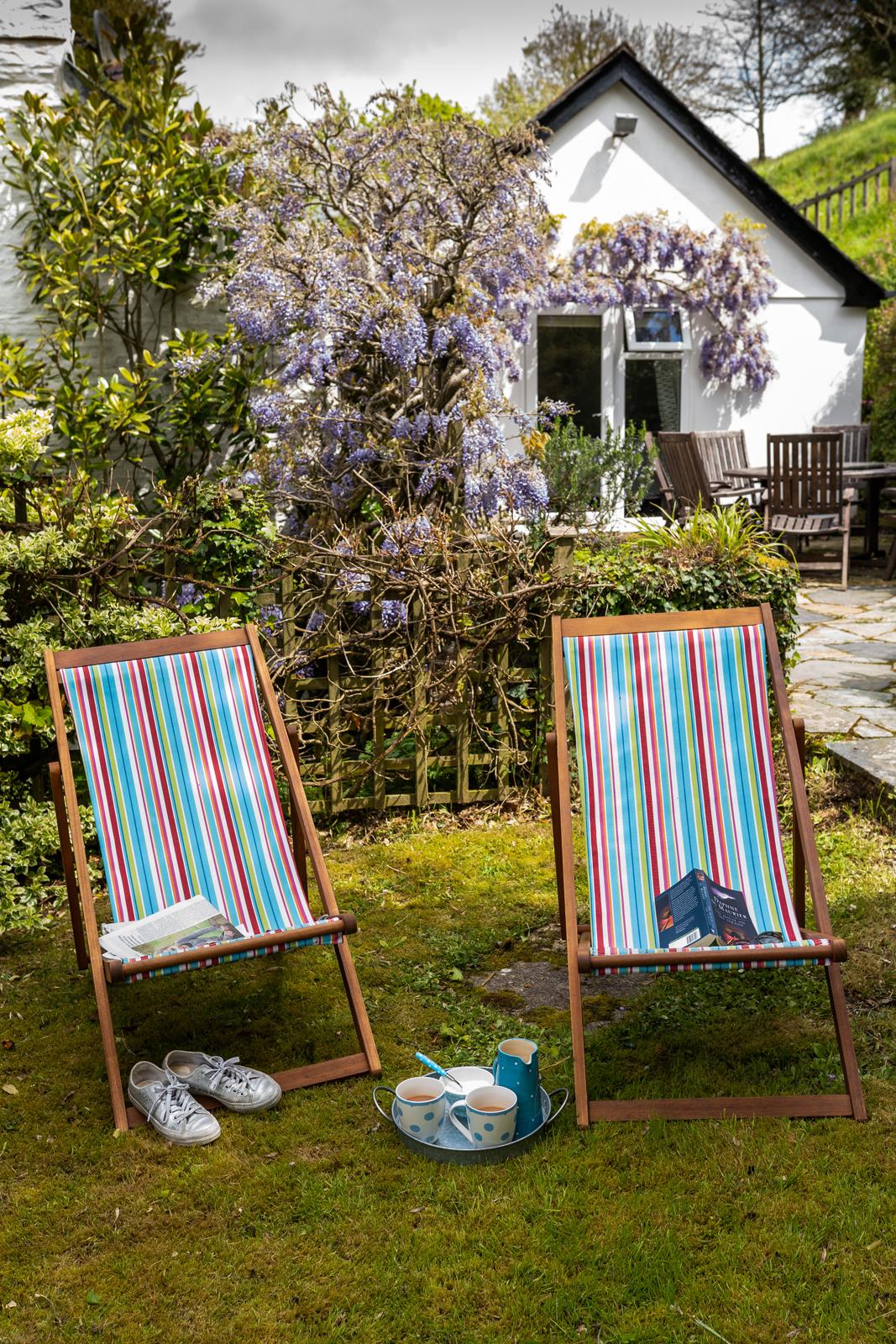 Deckchairs in the garden