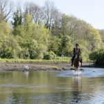 Horse and rider in Penpoll Creek