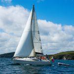 Sailing off the coast