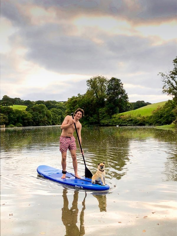 Paddleboarding on Penpoll Creek